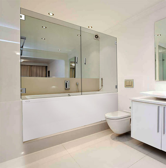 Double Dual Swinging Bathtub Doors Dulles Glass