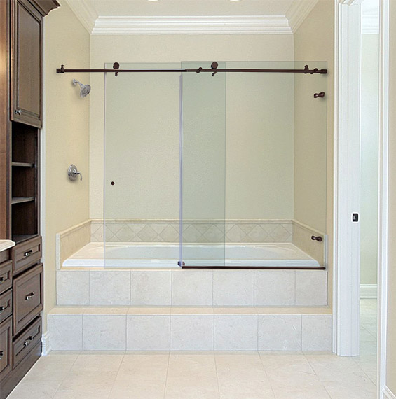Bathtub Doors Trackless Latest Amazon Frameless Shower