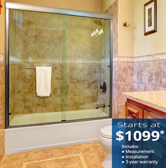 Semi Frameless Sliding Bathtub Doors Dulles Glass