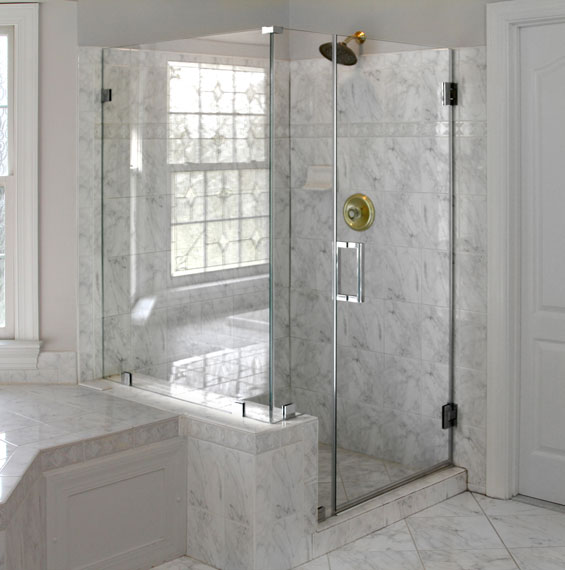 Corner Showers Dulles Glass